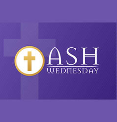 Ash wednesday holiday concept template for vector