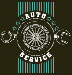 Automotive industry card vector