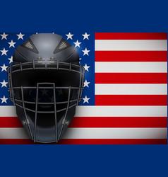 baseball catcher mask helmet vector image