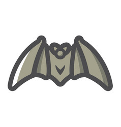 bat flittermouse bloodsucker with wings vector image