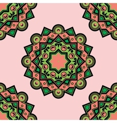 Beautiful Deco Colored Mandala PSeamless vector