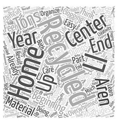 Beginning Recycling at Home Word Cloud Concept vector