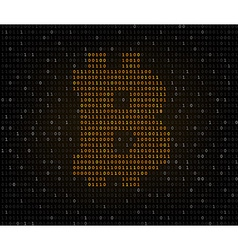Bitcoin symbol binary code vector