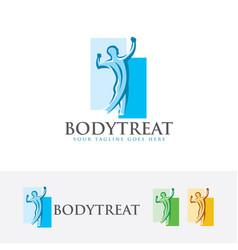 Body treat logo design vector