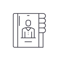 Business contacts line icon concept business vector
