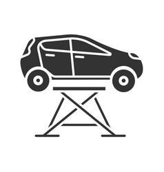 car lift glyph icon vector image