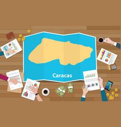 Caracas venezuela capital city region economy vector