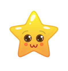 Charming star shaped comic emoticon vector