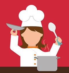 Chef design vector image