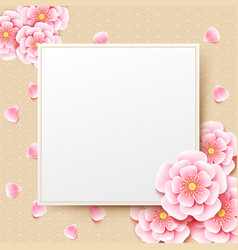 chinese plum blossom flower with chinese art vector image