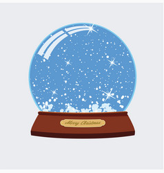 christmas of snow globe vector image