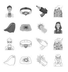 Cloak red clothes and other web icon in flat vector