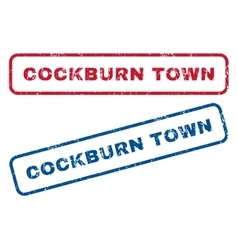 Cockburn Town Rubber Stamps vector