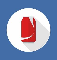 Cola tin flat icon vector image