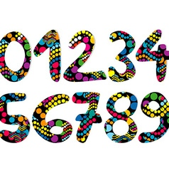 Colorful decorative numbers vector image