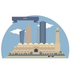 Doha vector image