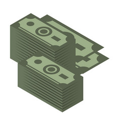 dollar pack icon isometric style vector image