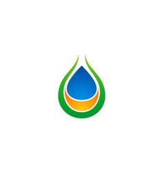 droplet ecology bio organic logo vector image