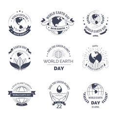 earth day isolated monochrome icon environment and vector image