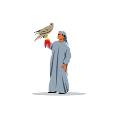 Falconry sign vector