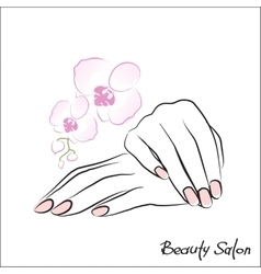 Female hands manicure vector