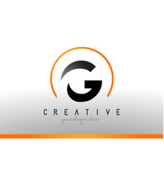 G letter logo design with black orange color cool vector