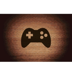 Gaming Joystick Flat modern web button and space vector image