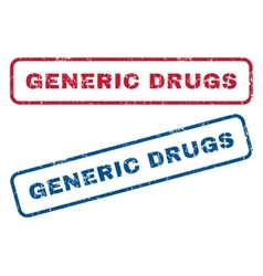 Generic Drugs Rubber Stamps vector