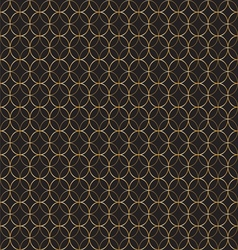 Geometric gold pattern of circles vector image
