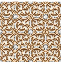 Gold diamond pattern vector