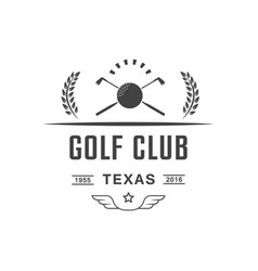 golf club logotype vector image
