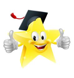 Graduate star mascot vector