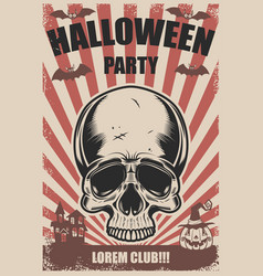 halloween party poster template trick or treat vector image vector image