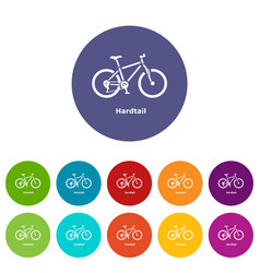 hardtail bike icon simple style vector image