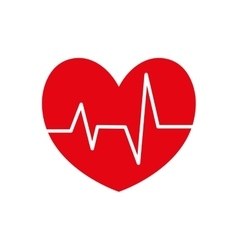 Heart pulse cardiology icon graphic vector