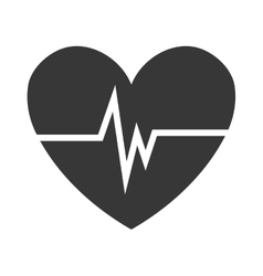 Heart with beats icon graphic vector