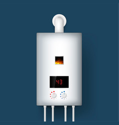 Home gas boiler water heater 3d rendering vector