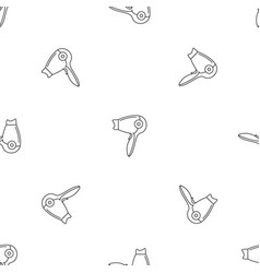 hot hair dryer pattern seamless vector image