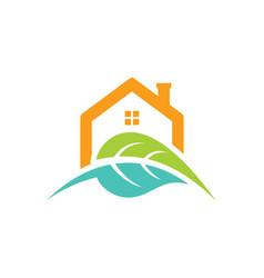 House green leaf nature logo vector