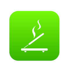 incense sticks icon digital green vector image
