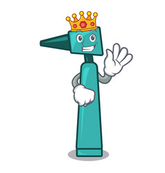 king otoscope mascot cartoon style vector image