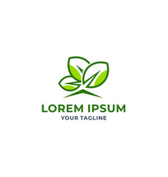 leaf logo icon design vector image