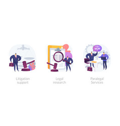 legal outsourcing abstract concept vector image