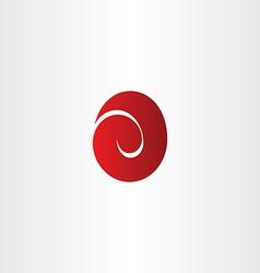 Letter e red easter egg logo icon vector
