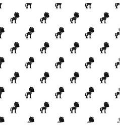 little pony pattern vector image