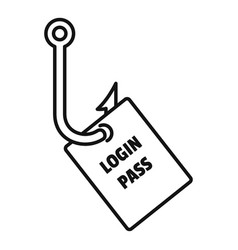Login pass fishing icon outline style vector