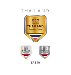 Made in thailand label stamp badge or logo vector