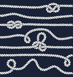 marine rope knot seamless pattern vector image