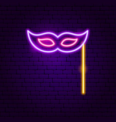 masquerade neon sign vector image