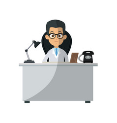 Medical doctor man icon vector
